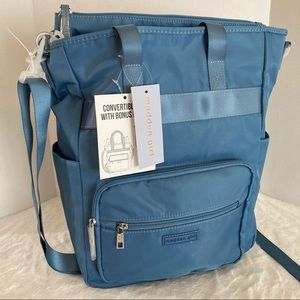 Madden girl backpack tote bag blue new women's